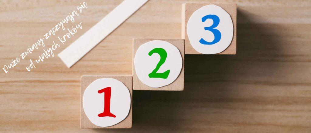 numery 1,2,3 małe kroki